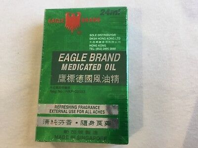 EAGLE BRAND MEDICATED OIL MADE IN SINGAPORE 24 ML 1x