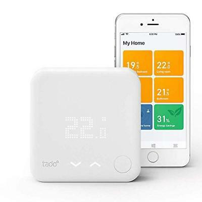 tado Smart Thermostat Starter Kit V3 - Intelligent heating control, works with