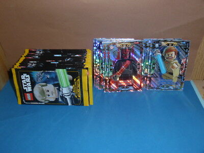 Lego Star Wars Trading Cards 23x Booster / 115 Karten + LE 2 & LE 12