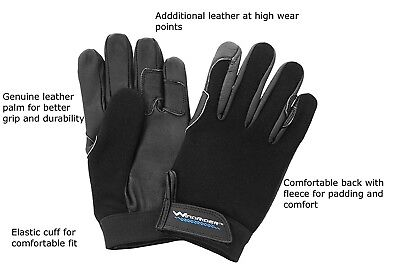 (10) - Equestrian Horseback Riding Gloves by WindRider Genuine Leather