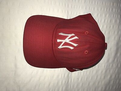 New Era 9Forty New York NY Yankees Adjustable Cap  Red White Men Women Baseball