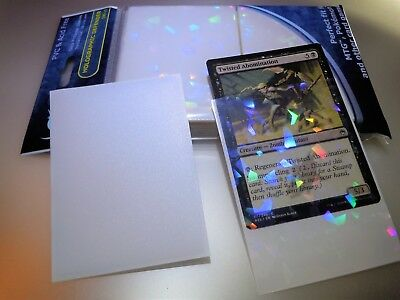 NEW Professional Hologram Card Sleeves Precise Fit for MTG Pokemon 100pack White