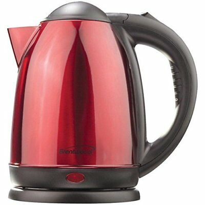 Brentwood Kt-1795 1.5-Liter Stainless Steel Electric Cordless Tea Kettle (Red)