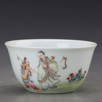"""3"""" China old antique Porcelain Qing yongzheng famille rose Charaters Cup"""
