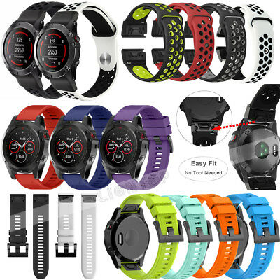 For Garmin Fenix 3/5 5X Plus/S60/Forerunne 935 Quick Silicone Wrist Band Strap