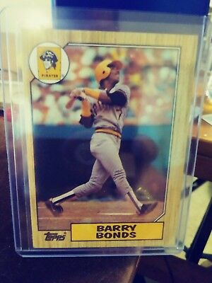 1987 Topps Barry Bonds Pittsburgh Pirates No 320 Rookie