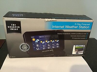 New - The Sharper Image - 5-Day Forecast - Internet Weather Station Ec-Ws115