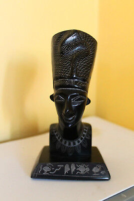 Antique Egyptian statue Carved in Jade / hardstone Stunning RARE
