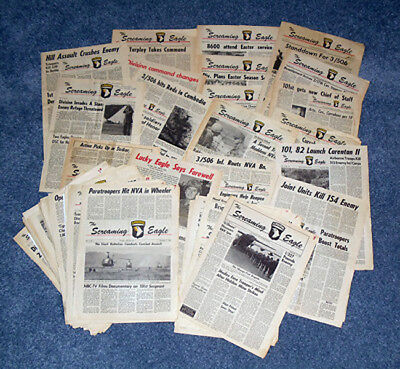 "101st airborne ""Screaming Eagle Newspapers"" 1968 Issues"""