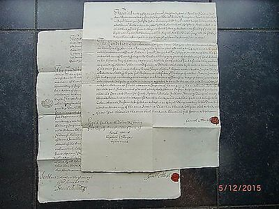 1728 & 1732. Geo. 2nd. (2) BONDS OF OBLIGATION.  Sam ATTERSOL of CHISLETT. KENT.
