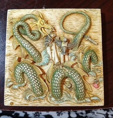 Picturesque Harmony Kingdom Tile Nessie's Nook from Noah's Park