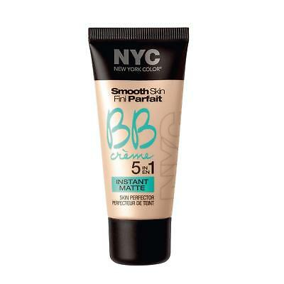 NYC Smooth Skin BB Creme 5 in 1 Skin Perfector Instant Matte Shade 01 Light 30ml