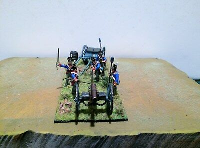 28mm Well Painted Napoleonic British 9 pdr and Limber