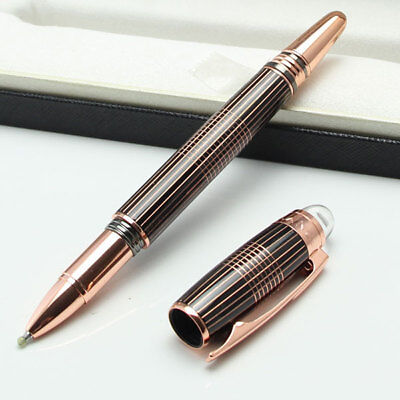 Luxury MB Starwalker Rollerball Pen Black/Rose Gold High Quality