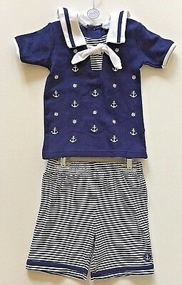 Baby Boys top and shorts sailor style 0/3 3/6 6/12 months BNWT NOW ONLY £7