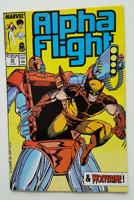 Alpha Flight #53 in VF/NM Condition / Wolverine Appearance 1987 Marvel Comics