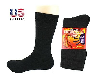 3-12 Pairs Mens Winter Thermal Warm Cotton Outdoor Crew Boot Work Socks 9-13