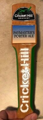 """Cricket Hill Brewery Paymasters Porter Ale Beer Tap Handle 11""""  in nice shape"""