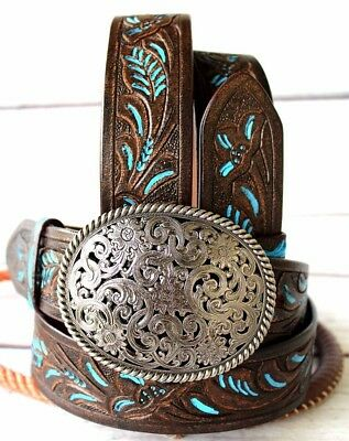 49-50 ProRider Womens Mens Leather Belt Handmade Carved Heavy Duty 2601RS2807