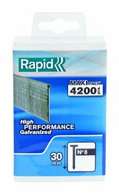 Rapid High Performance No.8 Galvanised Steel Brad Nails, Wire Length 30 mm, 500