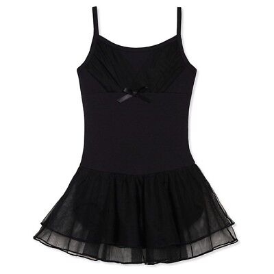 FREESTYLE by Danskin Girls BALLET & DANCE LEOTARD & SKIRT S Black