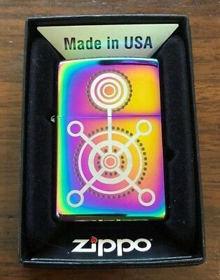Zippo Lighter Chrome Gears 2004 Design