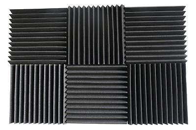 "6 Pack Acoustic Foam Panels Studio Soundproofing Studio Foam Tiles 1""x12""x12"""