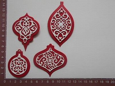 Scrapbooking Card Making die cuts - Christmas Baubles x  8 pieces  Lot 1