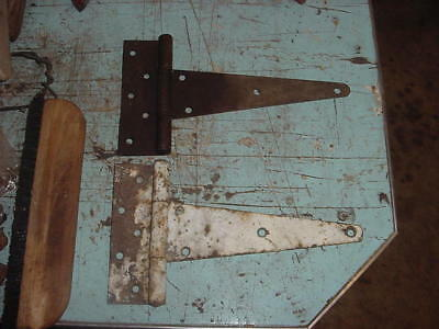 "Vintage T Strap Barn Door Gate Hinge Lot Of 2 Hinges 12"" Lot B"