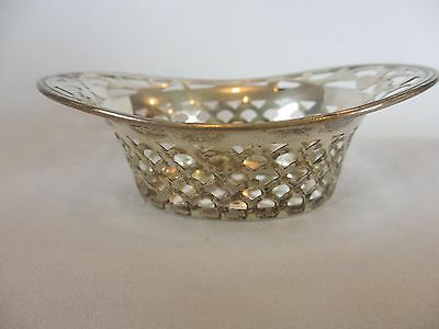 Beautiful Antique WEBSTER STERLING PIERCED SILVER NUT BOWL OR  CANDY BOWL DISH