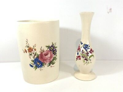 Vintage Axe Vale Pottery Devon Eng : Small Vase Bundle Collectables