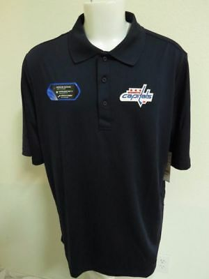 NEW Sz S-5XL Navy Blue Solid NHL MENS Performance Polyester #44C Polo Shirt
