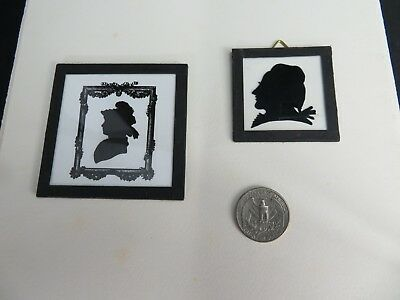 Rare vintage silhouette pair of Art Deco German made pictures
