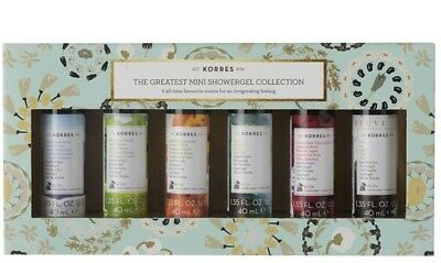 KORRES The Greatest Mini Shower Gel Collection New in Box