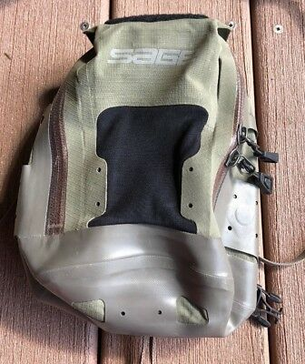 SAGE Rod  khaki green and brown Fly Fishing Chest Pack Tackle Bag Waterproof