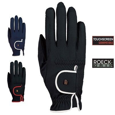 (8, black-white) - Roeckl - ladies contrast riding gloves LONA. Delivery is Free