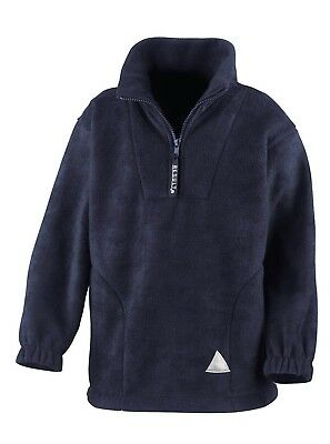 (8-10, Navy) - Result Kids/Youths Zip Neck Active Fleece. Shipping Included
