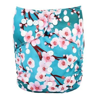 2018 New Baby Pocket Cloth Diaper Nappy Reusable Washable Floral For Girls