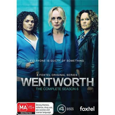 BRAND NEW Wentworth : Season 6 (DVD, 2018, 4-Disc Set) R4