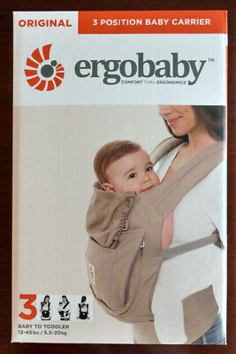 Brand New Sealed Ergobaby Original Multi-Position Baby Carrier - Moon Stone