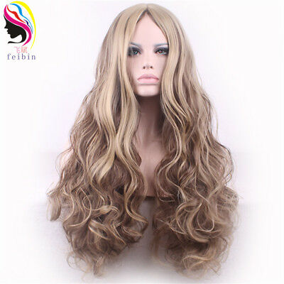 24'' Wavy Synthetic Wig Women Kinky Curly Cosplay Wig High Temperature Feiber
