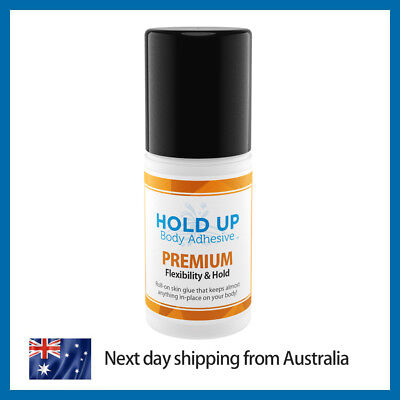 Hold Up Body Adhesive Premium | Extra Strong | SWEAT RESISTANT | Skin Adhesive