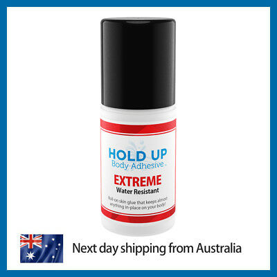 Hold Up Body Adhesive Extreme | Extra Strong | WATER RESISTANT | Skin Adhesive