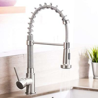 Single Handle Kitchen Faucet Dual Function Spring Kitchen Sink Faucets Pull down