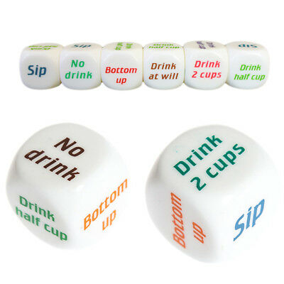 Drink Drinking Decider Dice Games Christmas Bar Party Pub Bar Fun Toy Funny New