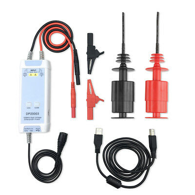 100MHz 50X-500X Oscilloscope High Voltage Differential Probe USB DC5V output oy