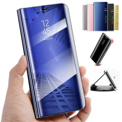 Smart For Samsung Galaxy Models Clear View Mirror Leather Flip Phone Case Cover