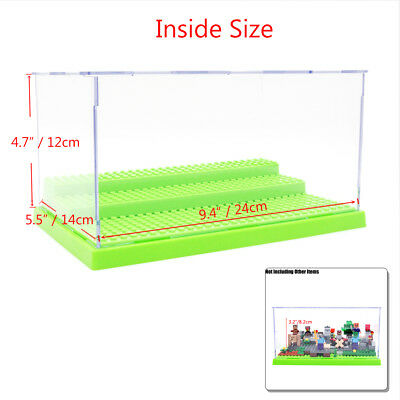 3-Steps Acrylic Perspex Display Box Case For Building Blocks Self-Assembly 24cm