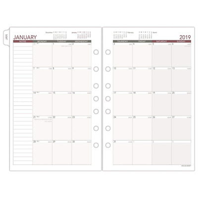 """AT-A-GLANCE Day Runner Monthly Planner Refill, January 2019 - December, 5-1/2"""" x"""