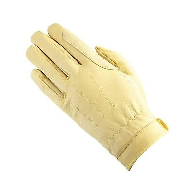 (7.6cm , corn) - Equetech Leather Showing Everyday Riding Glove. Unbranded